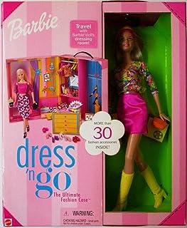 Mattel Barbie Dress 'N Go Fashion Case, Doll, Outfits, 30+ Fashion Accessories