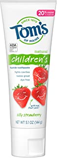 Tom's of Maine, Anticavity Fluoride Children's Toothpaste - Silly Strawberry, 5.1 Ounce