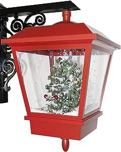 SSITG Navidad Farol schneiend Navidad decoración Farol Navidad Rojo Negro