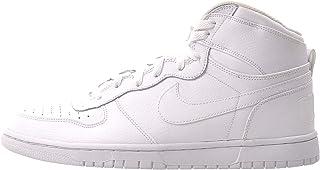 Men's Big High White/White-Black High-Top Leather Fashion Sneaker - 10.5M