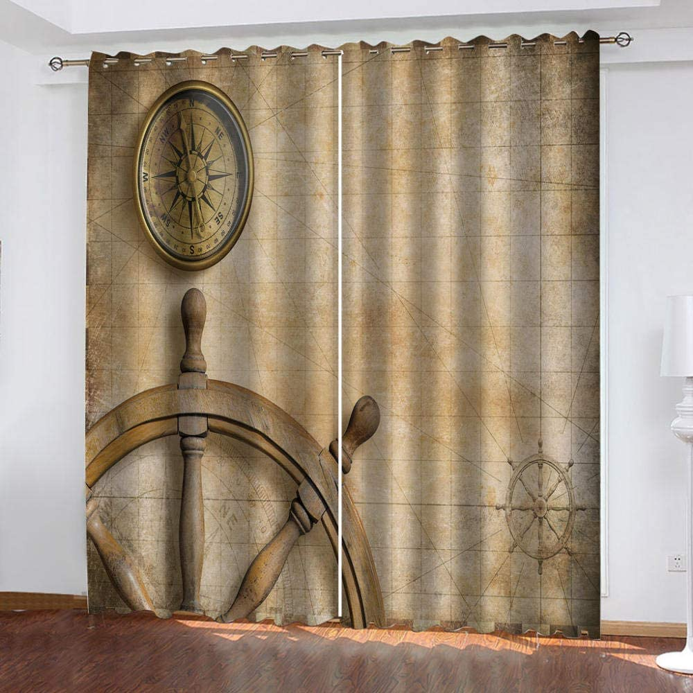 ZCFGG Environmentally Free Shipping New Friendly Indefinitely and Durable 132 52 Curtain x63in