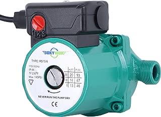BOKYWOX 110V 93W NPT3/4'' 3-Speed Food Grade Home Recirculating Pump Hot Water Circulator Circulation Pump (RS15/6G)