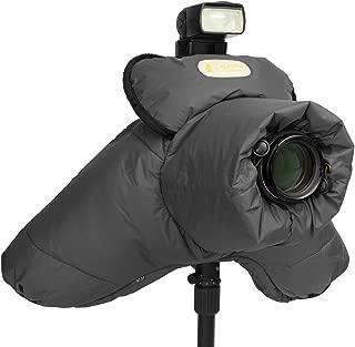 KANI 三脚アクセサリー ダウン防寒カメラカバー AC-011 BLACK 一眼レフ用 ポリエステル製 中綿ダウンフェザー 393739