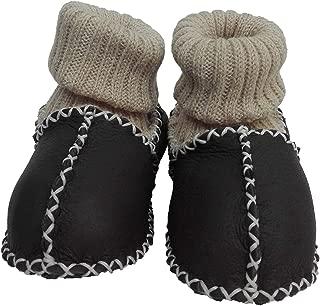 Pialetti Baby Doğal Kuzu Derisi Gri Bebek Patiği Çoraplı Panduf