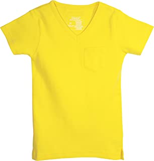 L'ovedbaby Organic Cotton V-Neck Short-Sleeve Baby T-Shirt (0-3 Months, Yellow)