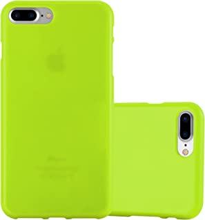 Cadorabo Case Works with Apple iPhone 8 Plus/iPhone 7 Plus/iPhone 7S Plus in Jelly Green – Shockproof and Scratch Resistant TPU Silicone Cover – Ultra Slim Protective Gel Shell Bumper Back Skin