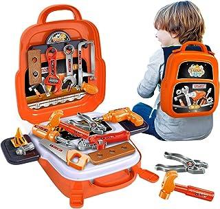مجموعة أدوات للأطفال مكونة من 22 قطعة من أنجيتان، مجموعة أدوات تعليمية عملية بناء واقعية، مجموعة أدوات لعب تظاهري