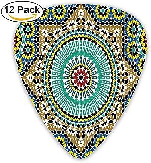 Architectural Glazed Decorative Wall Tile Ceramic Historical Travel Destinations Guitar Picks 12/Pack Set