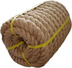 Twisted Manila Rope Jute Rope (1.5 in x 50 ft) Natural Thick Hemp Rope for Nautical, Landscaping, Railings, Hammock, Home ...
