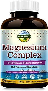 Terranics Magnesium Complex, Broad-Spectrum, 500mg, 120 Veggie Capsules, Chelated for Maximum Absorption, Support Sleep St...