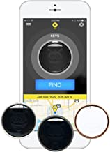 Pebblebee Finder, 3-Pack. Key Finder, Phone Finder. Bluetooth Tracker with Replaceable Battery, 200 Foot Range, Alexa Integrated, Stainless Steel, GPS Tracker App and Key Ring Included.