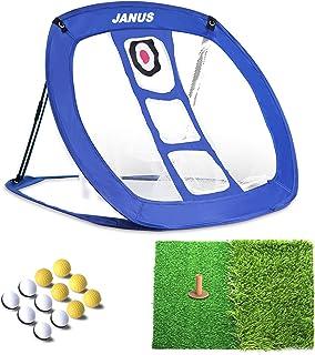 JANUS Golf Net/Golf Accessories for Men/Golf nets for Backyard Driving,Golf Gifts,Backyard Game, Golf prcatice net. Including Putting mats Indoor and 12 Practice Golf Balls
