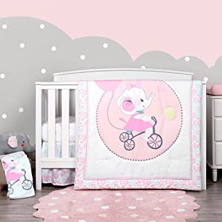 Printed Crib Bedding Set for Baby Boys Girls 4 Pieces