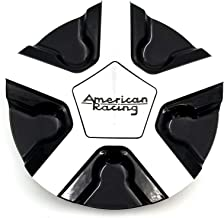 Deal on Wheels American Racing AR921CAPB-GBM Center Cap Gloss Black Mach fits AR921