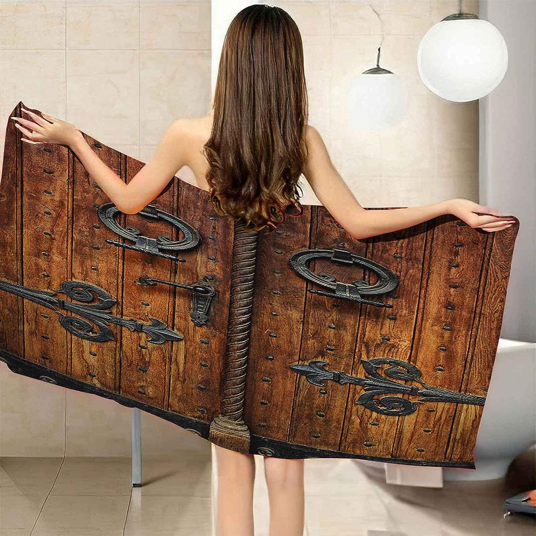 Oakland Mall Chicago Mall IRUAIF Microfiber Beach Towel Vintage Door Wooden 78.7x78. Metal