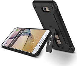 OMOTON 2016 Galaxy J7 Prime Case, J7 Prime Case Black with [Versatile Kickstand] [Anti-Slip] for Samsung Galaxy J7 Prime/Galaxy J7 Prime 2 /Galaxy On7 (2016 Released), NOT fit Galaxy J7 Prime [2017]