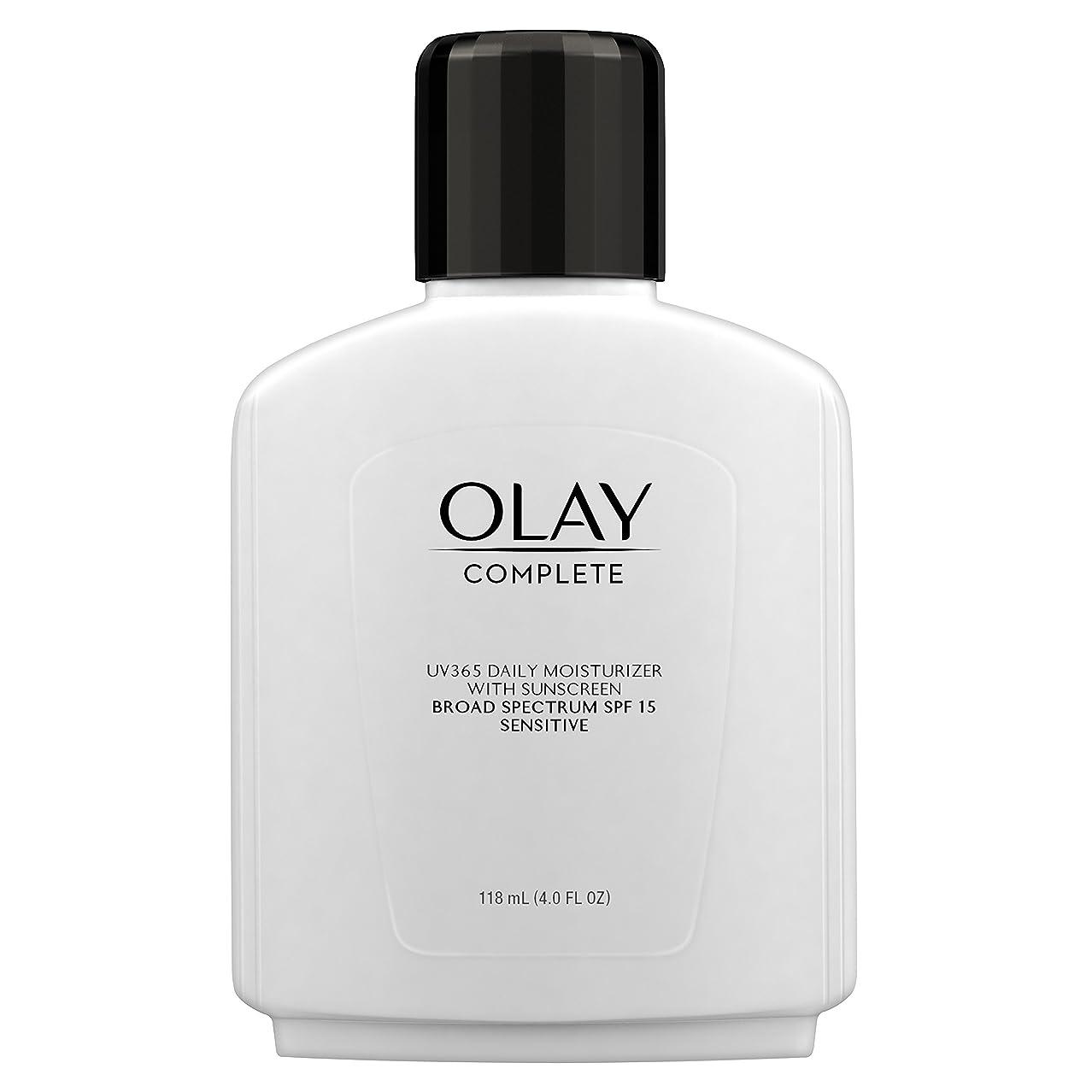 マイク先行する保護Olay Complete All Day Moisture Lotion UV Defense SPF 15, Sensitive Skin, 4 fl oz (118 ml) (1 pack) (並行輸入品)