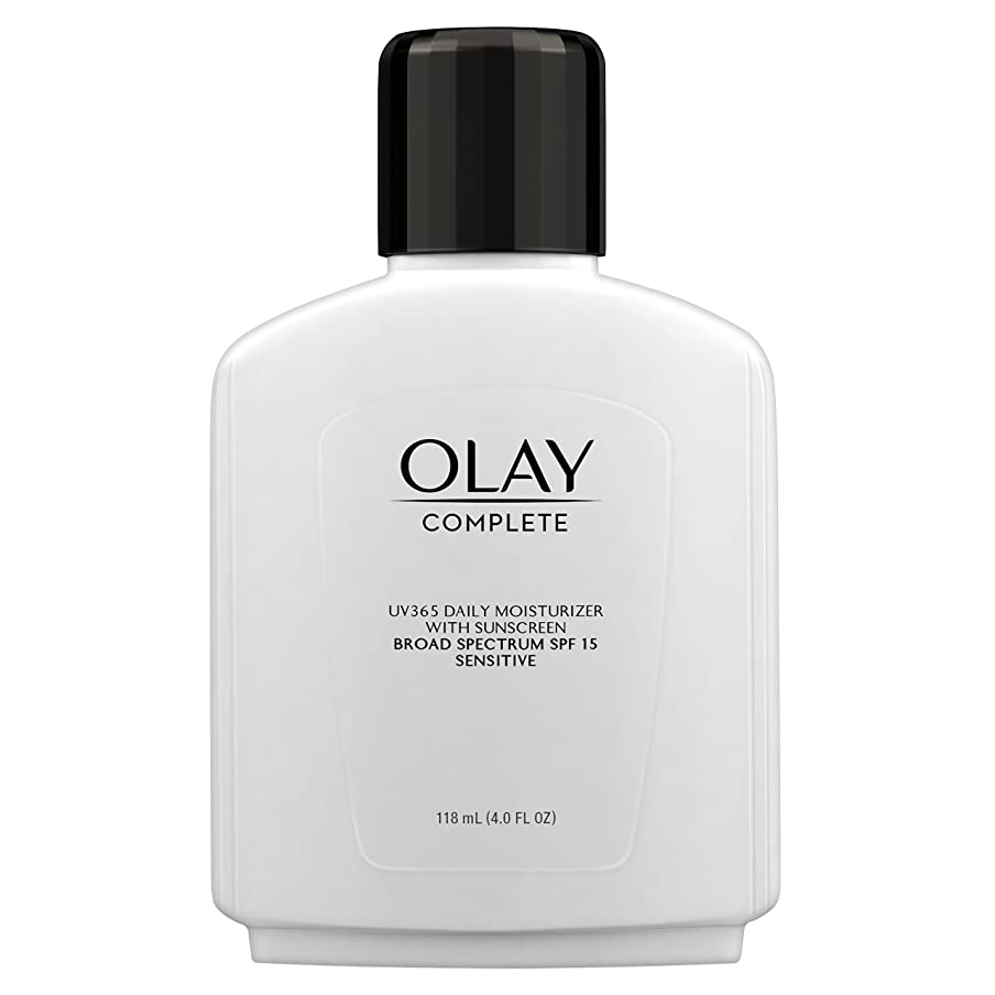 医学インスタントいちゃつくOlay Complete All Day Moisture Lotion UV Defense SPF 15, Sensitive Skin, 4 fl oz (118 ml) (1 pack) (並行輸入品)