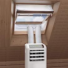HOOMEE Centraal Pivot Dakraam Afdichting Set voor Mobiele Airconditioning en Wasdrogers - Werkt met Elke Mobiele Airconditioning - voor Raamomtrek van 391 tot en met 460cm (230cmx2)