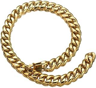 12/15/17/19mm Gold Tone Mens Chain Necklace Stainless Steel Curb Cuban Link Hip Hop Miami Rapper Xxxtentacion Choker Necklace