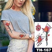5Pc- Autoadesivo Del Tatuaggio Impermeabile Modello Di Uccello Di Loto Rosa Trasferimento Di Acqua Sotto Lo Sterno Spalla Body Art Tatuaggi Tattoo-In Da U 10