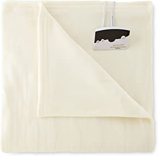 Biddeford 1003-9052106-757 Comfort Knit Fleece Electric Heated Blanket Queen Natural
