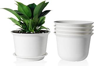 Plastic Pot - POTEY 7 Inch Indoor Planter with