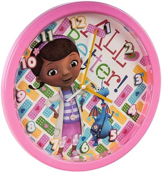 Disney Doc Mcstuffin Wall Clock 25cm Printed Gift Box Kids Fun Home D Cor Gift