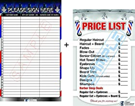 Barber Poster In a Combo - Customer Registration Board + Barber Shop Price List By BARBERWALL, Barber Shop Poster - Dimension 36 x 24 Laminated - marker included