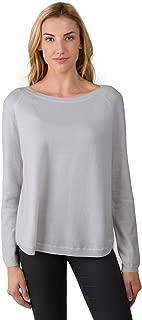 Women's 100% Cashmere Slouchy Raglan Sleeve Boatneck Sweater