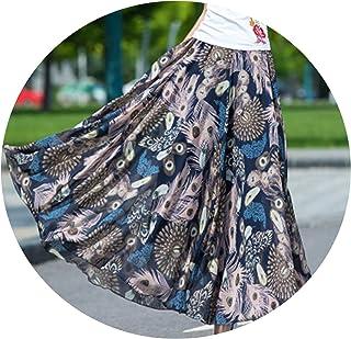 2e6393b21 Cyan lemon 2019 Bohemian Women Summer Chiffon Skirt Plus Size High Waist  Pleated Skirt Female Beach