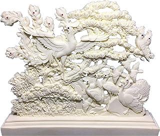 雕像工艺品摆件凤凰鸟王白鸟凤凰艺术雕像,现代艺术雕塑,吉祥动物凤凰,家居装饰礼品雕像
