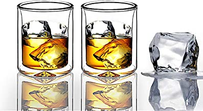Strong | Double-Wall Insulated Tumbler Set by Sun's Tea (Tm) | 9oz | Double Rocks Glass Old Fashioned Whiskey Glasses – (s...