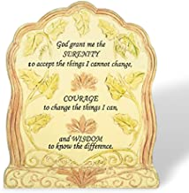 BANBERRY DESIGNS Serenity Prayer - Desktop Plaque With Bible Verse - God Grant Me the Serenity - Religious