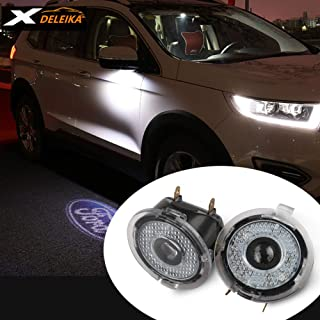 DELEIKA FORD side mirror projector Ghost Shadow Lights - Edge Expedition Explorer FLEX Fusion Taurus - Direct Replace - 2pc set (Edge /Expedition /Explorer /FLEX /Fusion /Taurus)