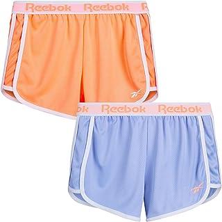 Reebok Girls' Active Shorts – 2 Pack Closed Mesh Athletic Dolphin Gym Shorts (Big Girl)