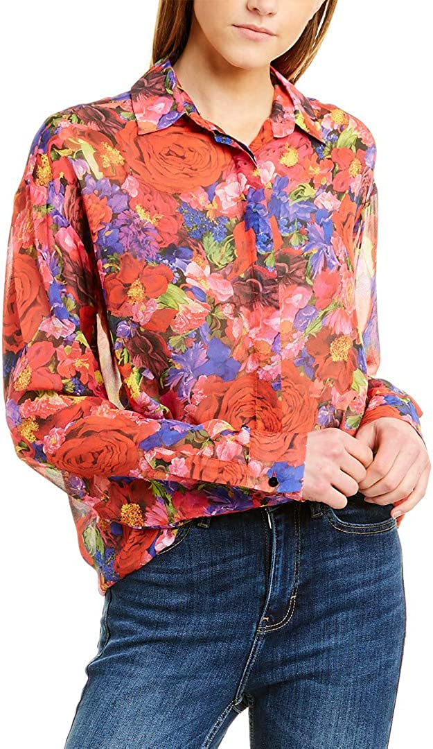 The Kooples Women's Women's Silk Button-Down Blouse in a Summer Night Floral Print