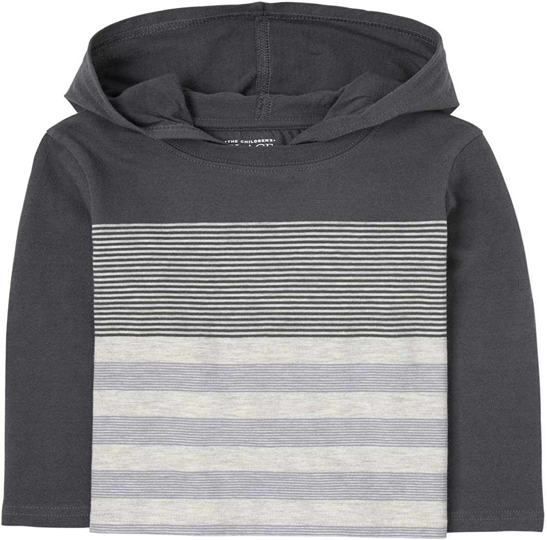 The Children's Place Boys' Toddler Striped Hoodie Top