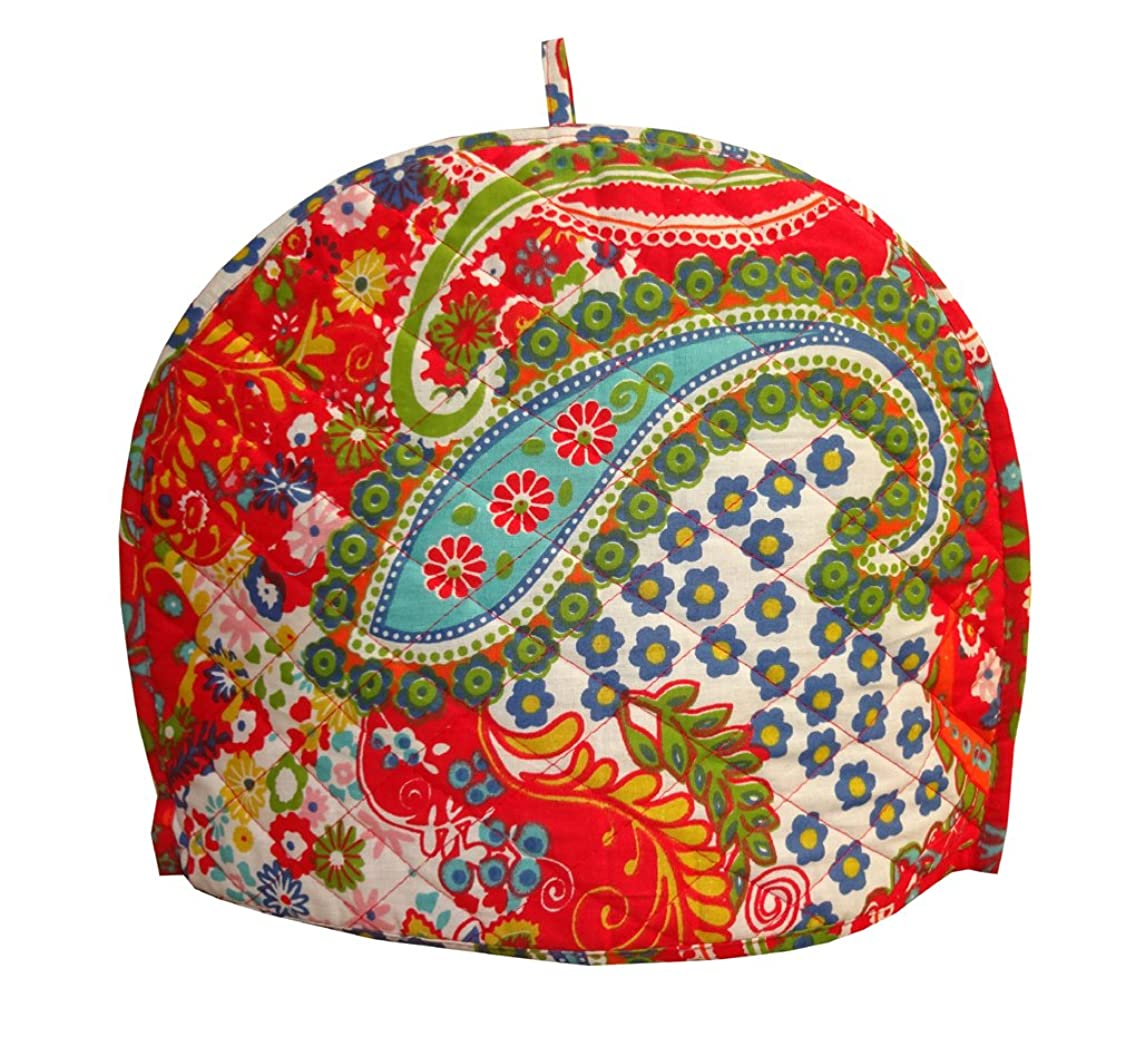 Shubhlaxmifashion Paisley Print Decorative Tea Cosy Vintage Red Creative Printed Cotton Tea Cozy