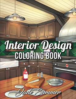 Interior Design Coloring Book: An Adult Coloring Book with Inspirational Home Designs,..