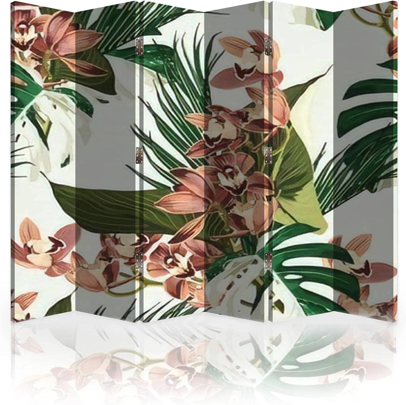 Canvas Room Divider Ranking TOP11 Screen Tropical Arlington Mall Beautiful Pat Flowers Pretty