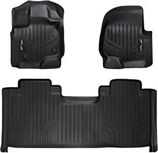 MAXLINER Floor Mats 2 Row Liner Set Black for 2015-2018 Ford F-150 SuperCab with 1st Row Bucket Seats