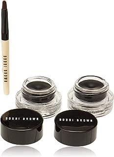Bobbi Brown Long-wear Gel Eyeliner Set - Black Ink By Bobbi Brown for Women - 3 Pc Set 2 X 0.1oz Long-wear Gel Eyeliner - Black Ink, Ultra Fine Eye Liner Brush, 3 Count
