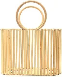 Miuco Women Top Handle Handbags Bamboo Purses Tote