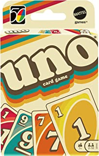 UNO Iconic Series 1970's Matching Card Game Featuring Decade-Themed Design, 112 Cards for Collectors, Teen & Adult Game Ni...
