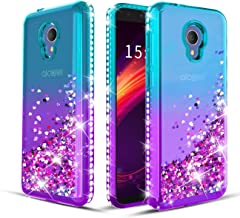 Wallme Alcatel TCL LX A502DL Case,Alcatel 1X Evolve/Alcatel IdealXtra 5059R/Alcatel Avalon V Phone Case, Glitter Diamond S...