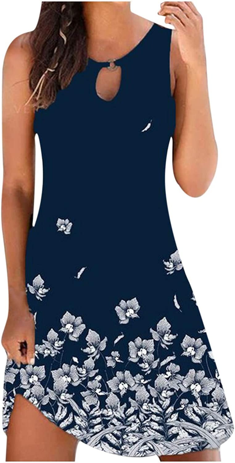 Sexy 5 ☆ very Popular standard popular Vintage Dresses for Women Floral Round Printed Midi N Dress