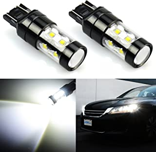JDM ASTAR Extremely Bright Max 50W High Power 7444 7443 7441 7440 LED Fog Light Bulbs for Back Up Reverse Lights, Xenon White