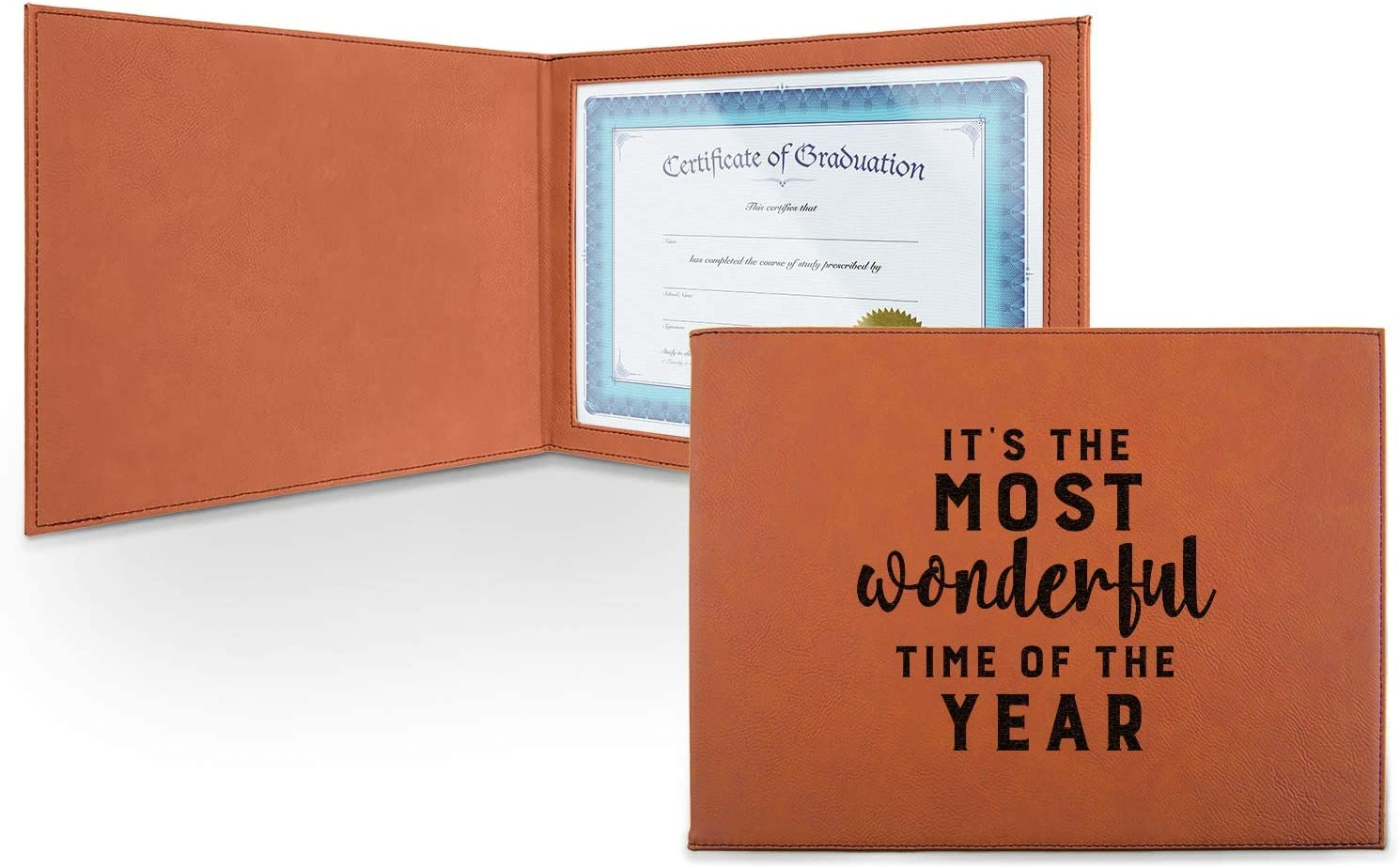 Christmas High quality new Quotes and Sayings Leatherette online shop - Fr Certificate Holder