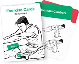 Exercise Cards – Premium Visual Bodyweight Workout Cards by WorkoutLabs · Waterproof Fitness Flash Cards for Home Workouts Without Equipment (Men) …